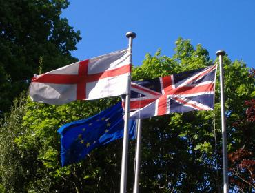 Flags at the East Midlands Conference Centre. © Flickr/Matt Buck
