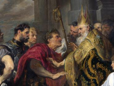 Saint Ambrose barring Theodosius I from Milan Cathedral by Anthony van Dyck © Wikimedia Commons [public domain]